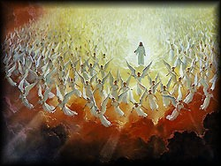 Jesus Coming with angels