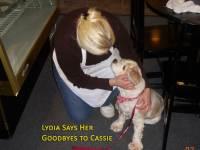 Lydia saysgoodbye