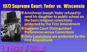 Jonas Yoder versus the State of Wisconsin