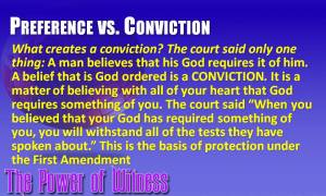 Preference vs Conviction defined by the Supreme Court