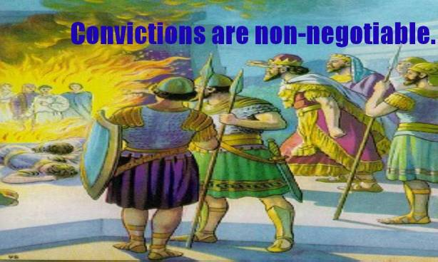 Convictions are Non-Negotiable