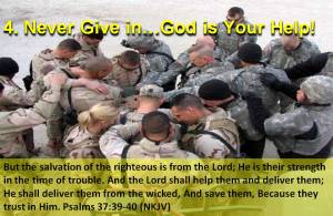 Praying Troops in Iraq
