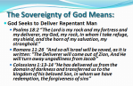 God seeks to deliver repentant man