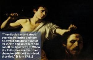 David Holds the Gibbor Goliath