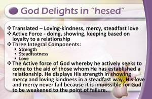 God delights in hesed