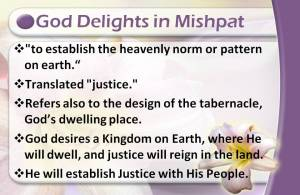 God Delights in mishpat