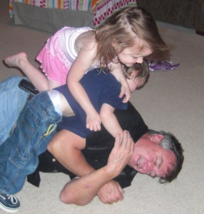 Gracie Luke Wrestling with Big D