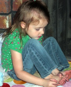 Gracie painting toes