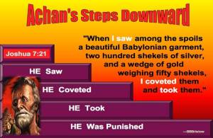 Achans downward descent