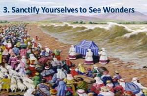 Sanctify Yourselves to See God's Wonders