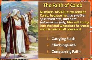 Faith of Caleb