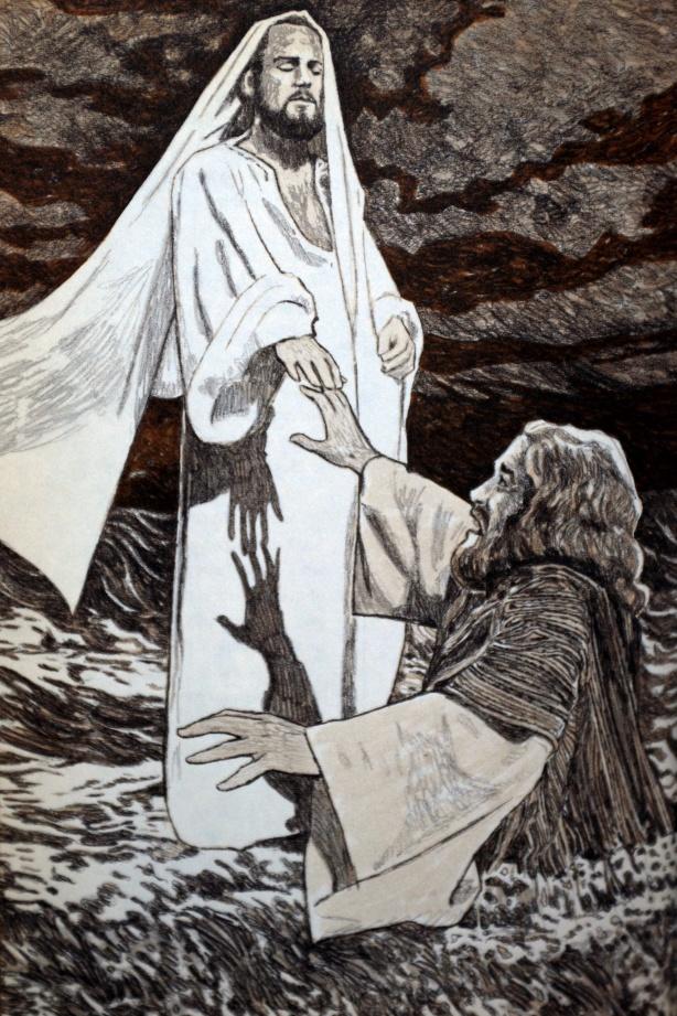 Jesus saves Peter melton