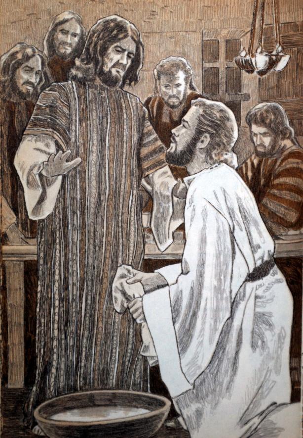 Jesus washes peter melton