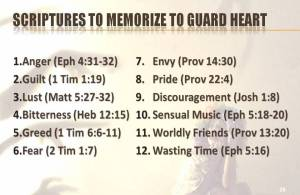 Scriptures Guard Your Heart