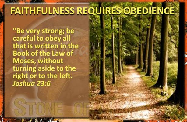 Faithfulness requires Obedience