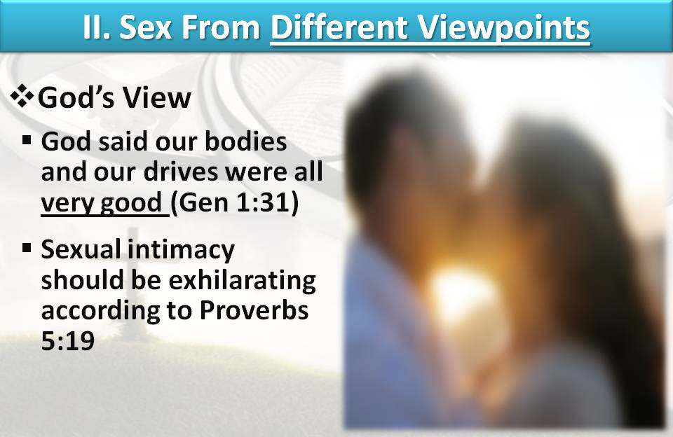 Gods view of sex