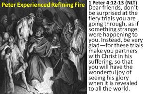 Peter knew refining fire