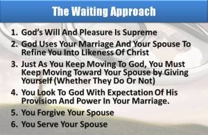 Waiting Approach to Marriage