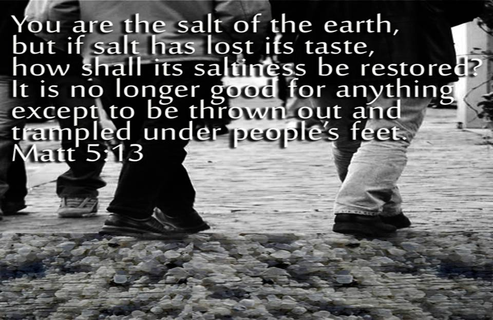 Remember Lot's Wife and Let Go the Salt! (6/6)