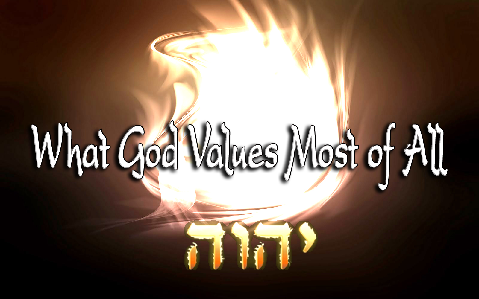 values god When we give to others we unveil their significance and worth, intrinsic value and   god has given us his very best in his son jesus and our desire is to be a.