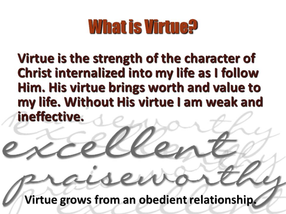 Why Is Virtue Important To Discipleship?