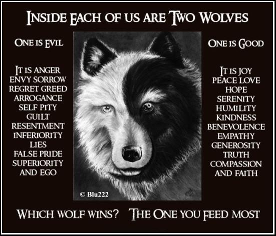 Do We Really Have Two Natures Are There Two Wolves Fighting For Control Of My Life Loving The Word With The Mudpreacher