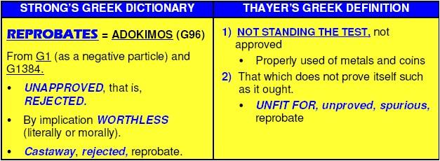 Define reprobate