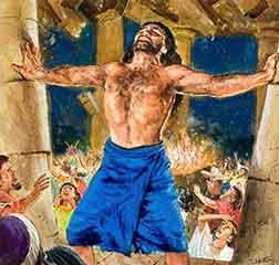 Samson destroys temple