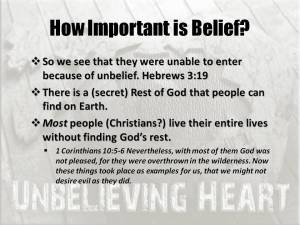 Belief is important for Rest