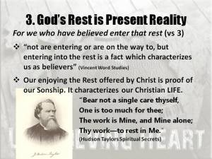 Gods rest is present reality