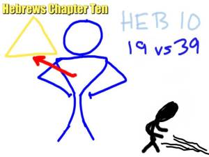 Hebrews 10 is about Pumping up or shrinking back