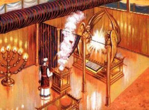 Priest ministers in the Tabernacle