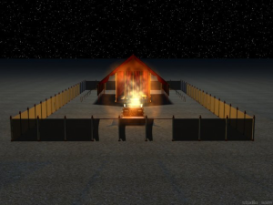 The fire of the brazen altar