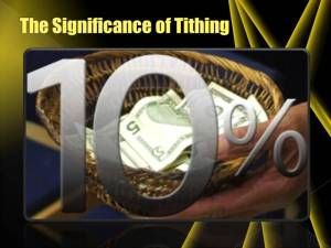 The Eternal benefit of tithing